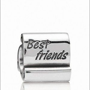 Pandora Retired Best Friend Scroll Charm